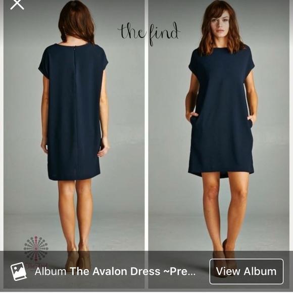 6d954ef2d4b NAVY Shift Dress with pockets